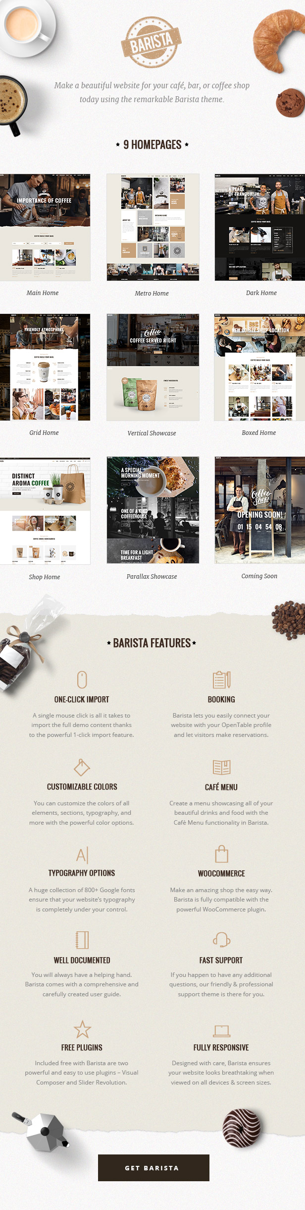 Barista - Modern Theme for Cafes, Coffee Shops and Bars - 1